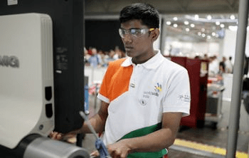 World skills competition for CNC machining