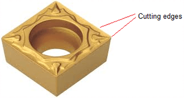 Insert view - turning insert geometry or milling insert geometry at the cutting edge